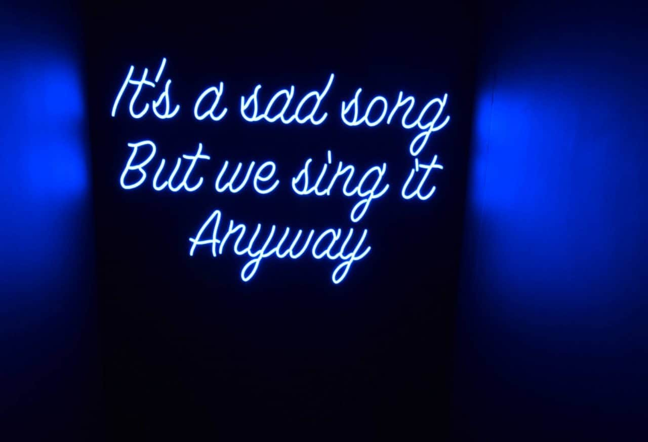 neon it's a sad song but we sing it anyway